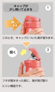 象印ステンレスボトル キャップ構造