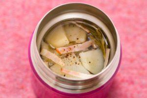 じゃが芋とベーコンのスープの画像