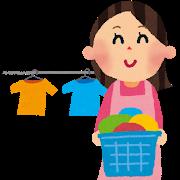 洗濯する人の画像
